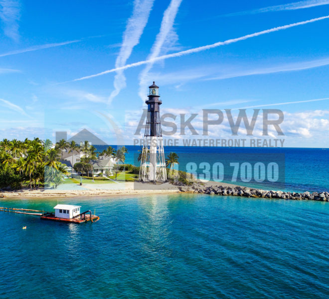 Lighthouse Point Aerial in Fort Lauderdale, Florida, USA