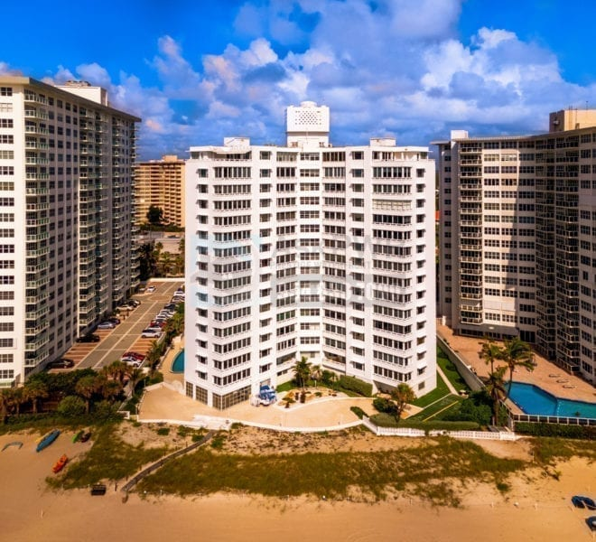 Edgewater Arms COOP 3600 Galt Ocean Drive Galt Mile Real Estate Listings Oceanfront Condos for Sale & Rent Prestige Waterfront Realty AskPWR Beach Drone June 2020 - 1
