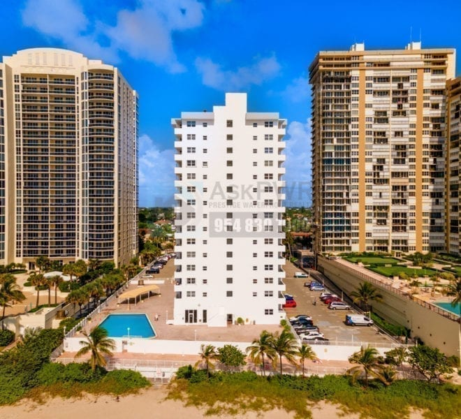 Galt Towers Condominium 4250 Galt Ocean Drive Galt Mile Real Estate Listings Oceanfront Condos for Sale & Rent Prestige Waterfront Realty AskPWR Beach Drone June 2020 - 1