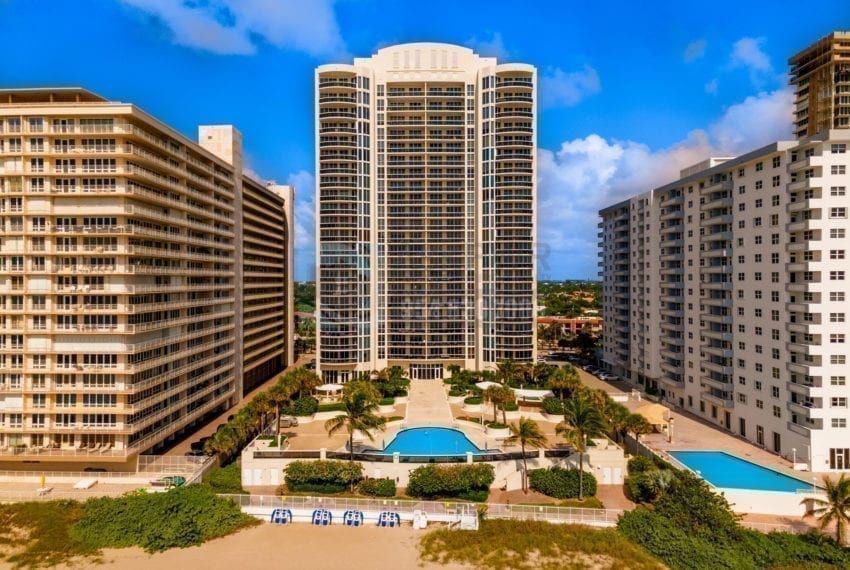 L'Ambiance 4240 Galt Ocean Drive Galt Mile Real Estate Listings Oceanfront Condos for Sale & Rent Prestige Waterfront Realty AskPWR Beach Drone June 2020 - 1