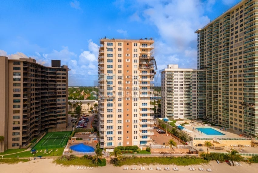 Regency Tower Condominium 3850 Galt Ocean Drive Galt Mile Real Estate Listings Oceanfront Condos for Sale & Rent Prestige Waterfront Realty AskPWR Beach Drone June 2020 - 1