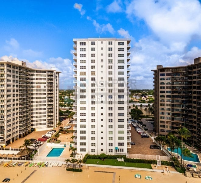 Regency Tower South Condominium 3750 Galt Ocean Drive Galt Mile Real Estate Listings Oceanfront Condos for Sale & Rent Prestige Waterfront Realty AskPWR Beach Drone June 2020 - 2