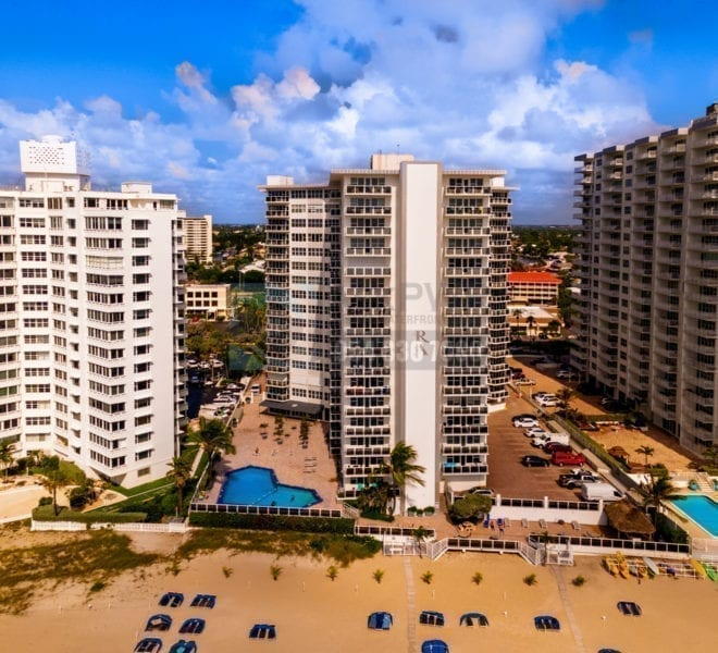 Royal Ambassador Condominium 3700 Galt Ocean Drive Galt Mile Real Estate Listings Oceanfront Condos for Sale & Rent Prestige Waterfront Realty AskPWR Beach Drone June 2020 -2