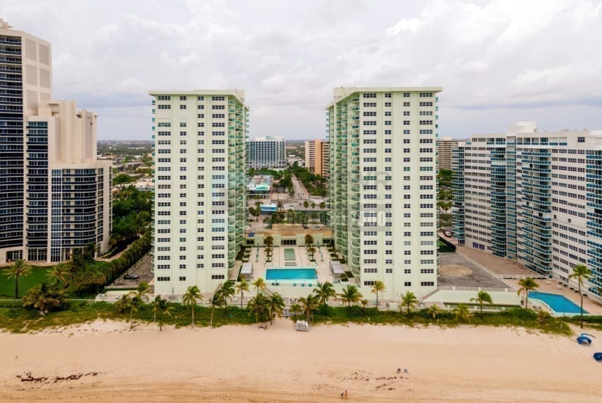 Southpoint Condominium 3750 Galt Ocean Drive Galt Mile Real Estate Listings Oceanfront Condos for Sale Rent Prestige Waterfront Realty AskPWR Beach Drone June 2020 2